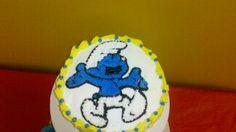 Smurf mini cake