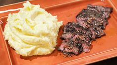 Mario Batali's Grilled Skirt  Steak  with Black Truffle Vinaigrette and Mashed Potatoes