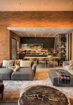 Living room interior design elegant ideas for 2019 Living Design, House Design, New Homes, Apartment Interior Design, Interior Design, House Interior Decor, House Interior, Interior Architecture, Basement Design