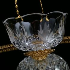Killarney Crystal Ring Dish Trinket Bowl Jewelry Box by OldGLoriEstateSale on Etsy