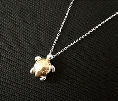 New Simple Sea Turtle Necklace Made of copper, this simple necklace is perfect for any turtle lover. Turtles are cute creatures. They are slow yet, but purposeful. Show how much you appreciate these s