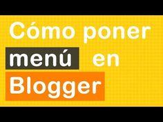 Trucos Diseño Web: Cómo poner un menú horizontal en blogger