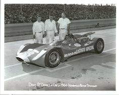 Dave McDonald's futuristic looking Sears Allstate Special 1964 - Dave was killed in this car during the race.