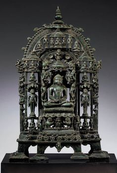 A Bronze Jain Shrine.   Western India, dated 1274.