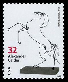 Alexander Calder postage stamp   © United States Postal Service