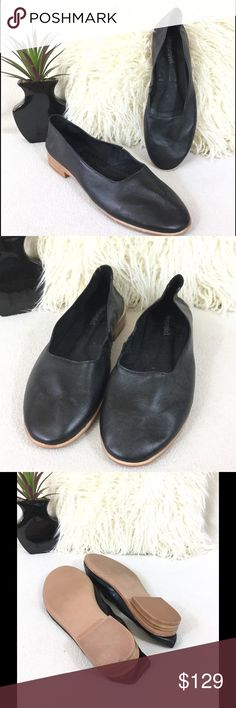 Jeffrey Campbell BRAND NEW Soft leather flats Jeffrey Campbell Jordan Style  BRAND NEW Soft leather flats. This leather is EXTREMELY soft. Comfortable with a inner stretch band for best fit.  Excellent condition never worn only tried on in showroom. Little sticky residue on insole from price tag   States size 9 feel they are fitting true Jeffrey Campbell Shoes Flats & Loafers