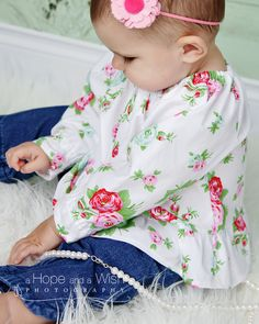 Chlldren Clothing Pattern  Baby Toddler Peasant Top by tiedyediva