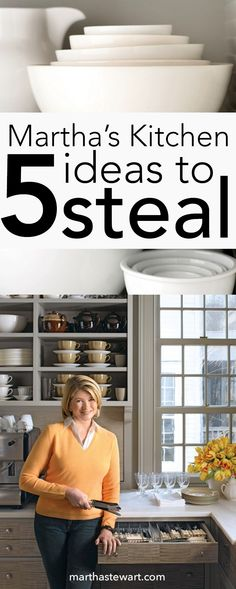 Clever design ideas, practical storage, unusual solutions -- Martha shares her secrets for creating a kitchen that works.