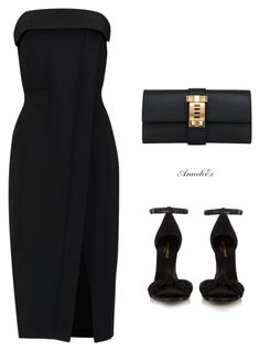 Her Style by aramarescobar on Polyvore featuring polyvore fashion style Alexis Yves Saint Laurent Hermès clothing