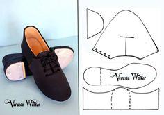 Male shoe template