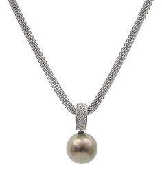 Tahitian pearl and diamond pendant, mounted in white gold - by Leonard Joel Pearl Pendant, Diamond Pendant, Pendant Necklace, Pearl Jewelry, Jewlery, Jewelry Necklaces, Tahitian Pearls, Jewelries, Dress Code