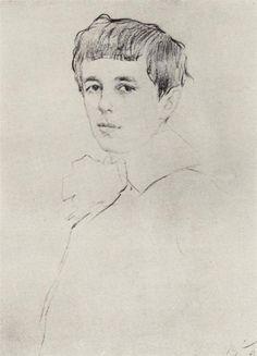 Portrait of Yuri Morozov, 1905  Valentin Serov