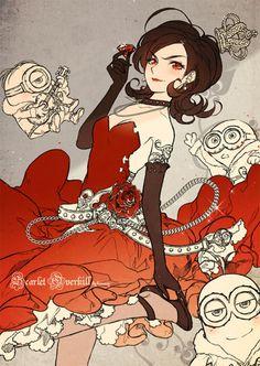 minions' former boss, Scarlet Overkill.