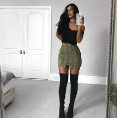 $34.99 Pocket Tight Suede Lace Up Skirt