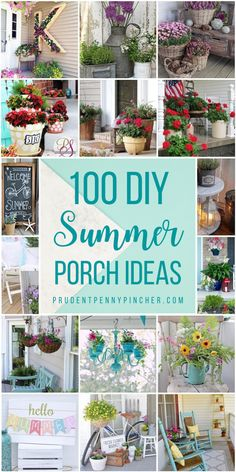 100 DIY Summer Front Porch Ideas Brighten up your front porch for the season with these summer front porch ideas that will improve your curb appeal. From DIY summer wreaths to porch decorating ideas for summer, there are plenty of DIY projects Awesome Woodworking Ideas, Woodworking For Kids, Woodworking Joints, Woodworking Patterns, Woodworking Projects, Woodworking Plans, Woodworking Furniture, Woodworking Beginner, Woodworking Techniques