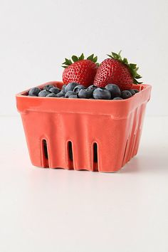 Farmers Market Basket, Large Square #anthropologie - $20 in coral