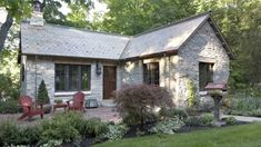 Old 1900's log gatehouse reinvented as an English-style Limestone cottage - Trends Home Renovation Design Perspectives - Romancing the stone. Residential designer Jeff Murphy puts a new spin on restoration for this English-style cottage....