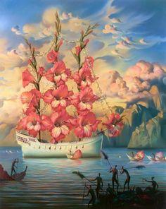 Arrival of the Flower Ship by Vladimir Kush
