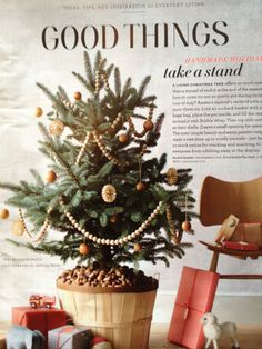 from martha stewart december 2011. love the wooden beads and nuts as base filler. as a librarian, i am wondering if I am violating copyright by posting this picture of the page?? i am a little stressed by this!