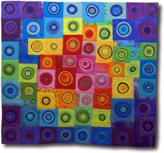 Melody Johnson Quilts.  I love the vibrant colors and modern designs of these quilts.