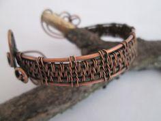 Geneva cuff, Tutorial PDF, copper cuff bracelet tutorial, wire weave tutorial, jewelry tutorial