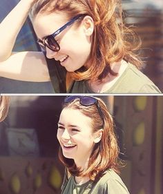 Lily Collins short hair <3