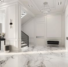 Enhance Your Senses With Luxury Home Decor Luxury Homes Interior, Apartment Interior Design, Luxury Home Decor, Home Room Design, Living Room Designs, Modern Classic Interior, Neoclassical Interior, Staircase Design, Luxurious Bedrooms