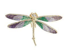 Shop enameled dragonfly brooch from Jacqueline Kennedy in our fashion directory.
