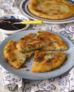 Onion Cake Recipe, Asian Recipes, Sweet Recipes, Appetizer Recipes, Appetizers, Vegetarian Recipes, Cooking Recipes, Food Dishes, Food Videos