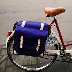It's time to start retro ride | Retro bike bag Navy Blue