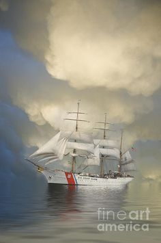 """""""Coast Guard Cutter Eagle"""" a photograph by Jerry McElroy"""