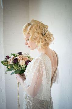 Elegant Art Deco Bridal Hair and Makeup