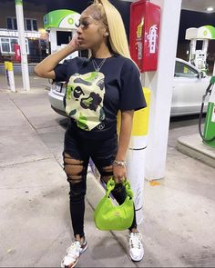 Swag Outfits For Girls, Cute Swag Outfits, Fall Outfits, Fashion Outfits, Cute Birthday Outfits, Black Girl Aesthetic, Black Girl Fashion, Streetwear Fashion, Street Wear