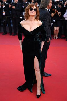 Susan Sarandon attends the Cannes Film Festival in a stunning velvet gown.