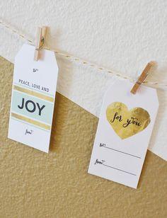 Free printable gift tags.  http://www.weddingchicks.com/2014/12/10/free-holiday-gift-tags/