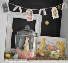 Easter Home Decor with Vintage Style Baby Chicks Sign | #homegoodshappy #easter