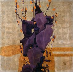 Egon Schiele, Stylized Flowers, 1908 on ArtStack #egon-schiele #art