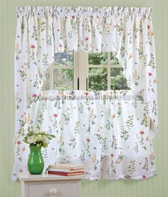 I just ordered these fresh new curtains for my kitchen for the summer.  Whatta think?  Can't wait now to get them.