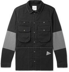 And Wander Andover Reflective-Panelled Cordura Shirt Jacket Mens Designer Coats, Designer Clothes For Men, Designer Menswear, Shirt Jacket, Nike Jacket, T Shorts, Mr Porter, Men's Coats And Jackets, Jacket Style