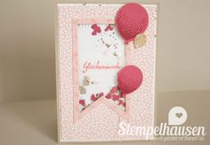 Geburtstagskarte Schüttelkarte Love Blossoms Rosenrot Kirschblüte
