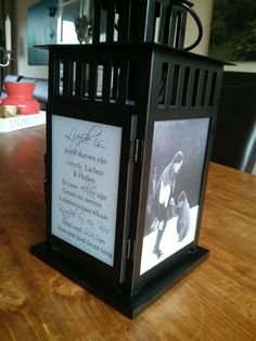 You will need: - Borrby latern - White paper - Printer - Scissors - Spray glue - (olive) oil - Brush Make an personal present for someone you love. For instance for a special occasion. I made one for my brother and sister in law for their 40th marriage anniversary. You can by the Borrby [&hellip