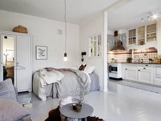 Halvvæg  Full studio apartment here - Modern Vintage Interior