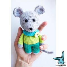 Little mouse  amigurumi crochet pattern. PDF file. DIY