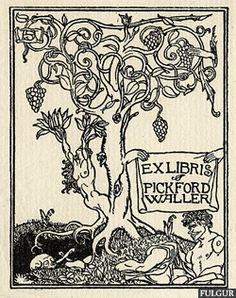 Pickford- waller-ex-libris-c1907
