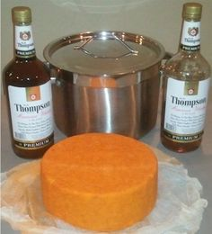 The evolution of an irish style whisky cheddar - Using the recipe from Mary Karlin's book Artisan Cheese Making at Home, this cheese was made with culture, Annatto seed extract for orange color and cheap Irish whiskey.