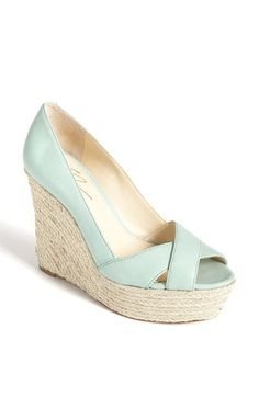 The prettiest wedge I've ever seen. Get in my closet! VC Signature Nadine Sandal in Mint