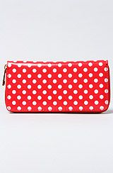 *Accessories Boutique The Polka Dot Wallet in Red