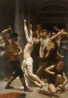 The Flagellation of Our Lord Jesus Christ by William-Adolphe Bouguereau (1880)