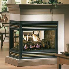 Kingsman Direct Vent Peninsula Fireplace #LearnShopEnjoy