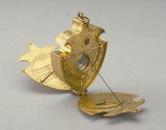 Astronomical Compendium Attributed to Christoph Schissler circa 1570 ?; Augsburg Gilt brass; 12 x 53 x 70 mm